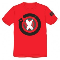 T-shirt Lorenzo rouge logo noir