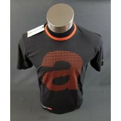 T shirt aprilia manche courte noir