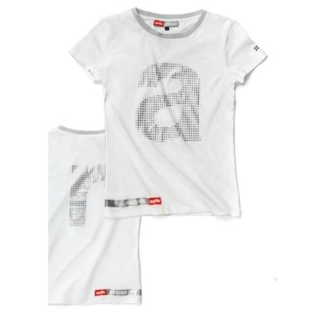 T-shirt logo femme blanc Aprilia